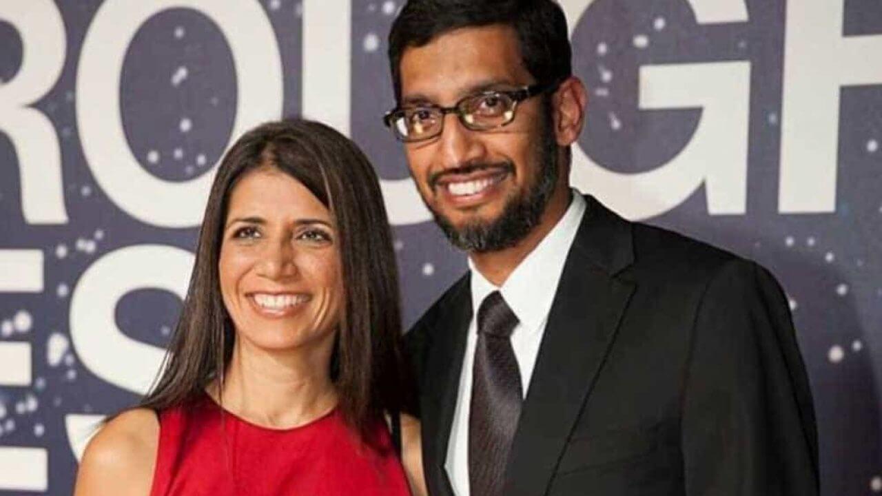 Anjali Pichai – Wife of Google CEO Sundar Pichai-getinstartup